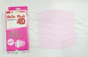 Khẩu Trang Cao Cấp 4D Hello Mask ( Màu hồng)
